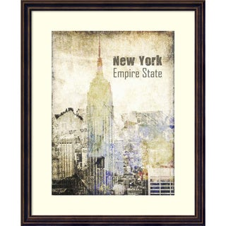 Framed Art Print 'New York Grunge II' by Irena Orlov 18 x 22-inch