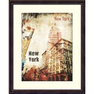 Framed Art Print 'New York Grunge I' by Irena Orlov 18 x 22-inch