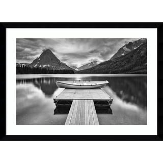 Framed Art Print 'Two Medicine Lake' by Jason Savage 22 x 16-inch