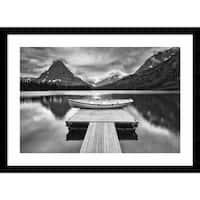 Framed Art Print 'Two Medicine Lake' by Jason Savage