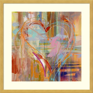 Framed Art Print 'Abstract Heart' by Amy Dixon 21 x 21-inch