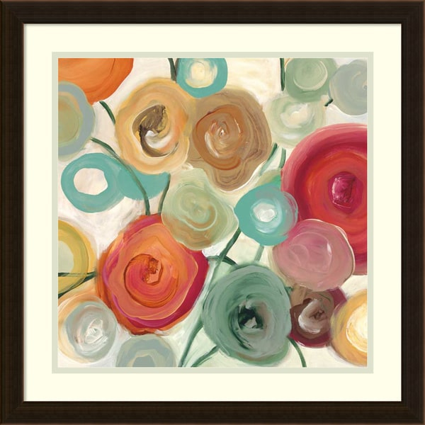 Framed Art Print 'Blossom II' by Cat Tesla 22 x 22-inch