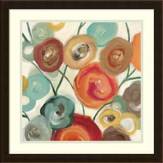 Framed Art Print 'Blossom I' by Cat Tesla 22 x 22-inch - Blue/Brown/Red