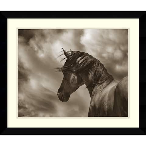 Framed Art Print 'The Renegade Horse' by Barry Hart 33 x 28-inch