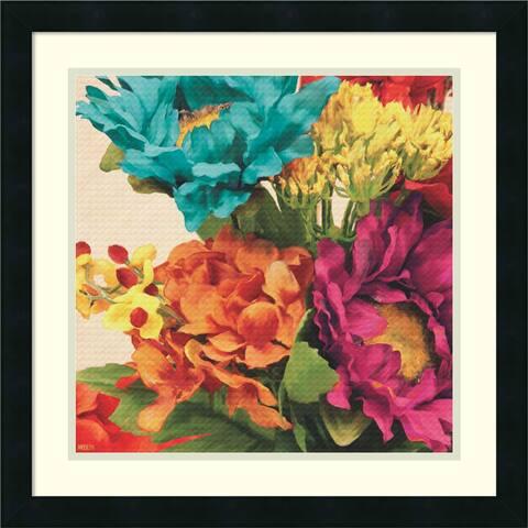 Framed Art Print 'Pop Art Flowers I' by Jocelyne Anderson 21 x 21-inch