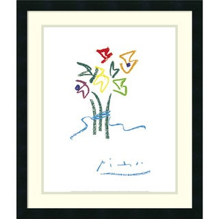 Framed Art Print 'Evening Flowers' by Pablo Picasso 22 x 26-inch