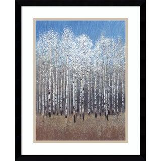 Framed Art Print 'Cobalt Birches I' by Tim O'Toole 17 x 21-inch