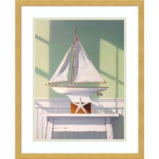 Framed Art Print 'Stargazing with a Boat' by Jack Saylor 17 x 21-inch