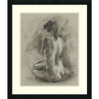 Framed Art Print 'Charcoal Figure Study II' by Ethan Harper 23 x 27-inch