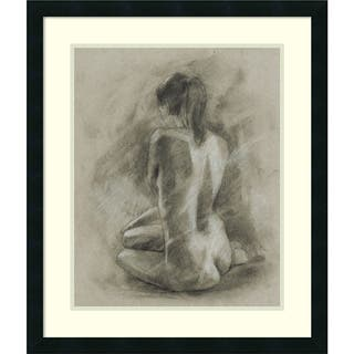 Framed Art Print 'Charcoal Figure Study II' by Ethan Harper