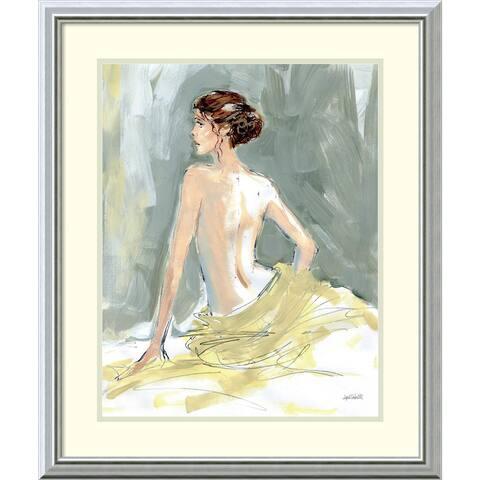 Framed Art Print 'Nude II' by Anne Tavoletti 23 x 28-inch