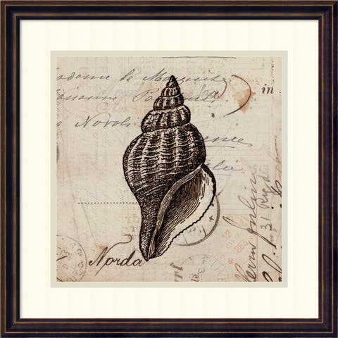 Framed Art Print 'Ocean Collection I' by Sabine Berg 18 x 18-inch