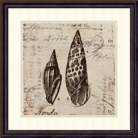 Framed Art Print 'Ocean Collection III' by Sabine Berg 18 x 18-inch