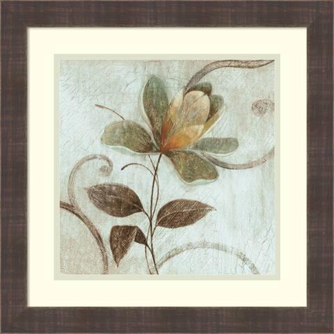 Framed Art Print 'Floral Souvenir 1' by Okre 19 x 19-inch