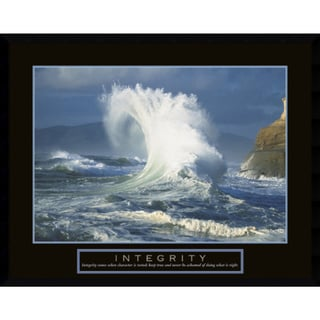 Framed Art Print 'Integrity: Wave' 29 x 23-inch