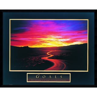 Framed Art Print 'Goals: Sunrise / Road' 29 x 23-inch