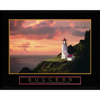 Framed Art Print 'Success: Lighthouse' 29 x 23-inch