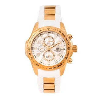 Aquaswiss Unisex TR802008 White/Rosegold Trax II Watch