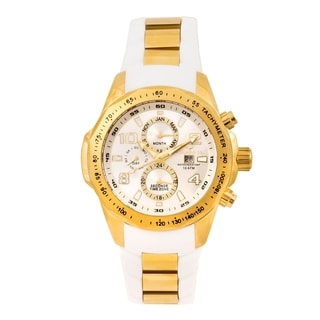 Aquaswiss Unisex Trax II TR802007 White/Gold Watch