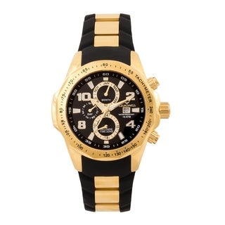Aquaswiss Unisex TR802005 Black/Gold Trax II Watch