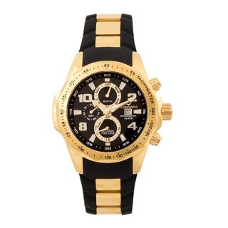 Aquaswiss Unisex TR802005 Black/Gold Trax II Watch|https://ak1.ostkcdn.com/images/products/12270565/P19109911.jpg?impolicy=medium