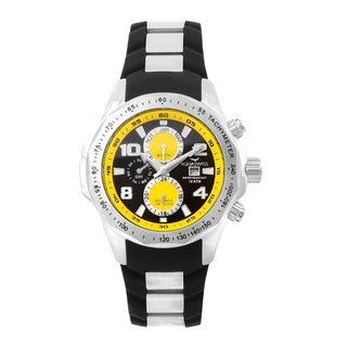 Aquaswiss Unisex TR802002 Black/Yellow Trax II Watch