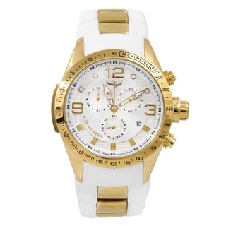 Aquaswiss Unisex Trax 6H 80G6H107 White/Gold Watch