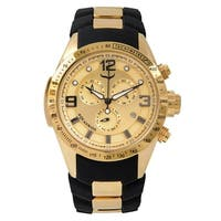 Aquaswiss Unisex 80G6H106 Black/Gold Trax 6H Watch