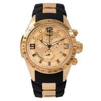 Aquaswiss Unisex  Black/Rosegold Trax 6H Watch
