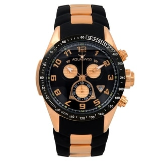 Aquaswiss Unisex 80G6H015 Black/Rosegold Trax 6H Watch