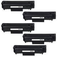 5PK Compatible Q2612A Toner Cartridge For HP LaserJet 1010 , 1012 , 1015 , 1018 , 1020 , 1022 , 1022N ( Pack of 5 )