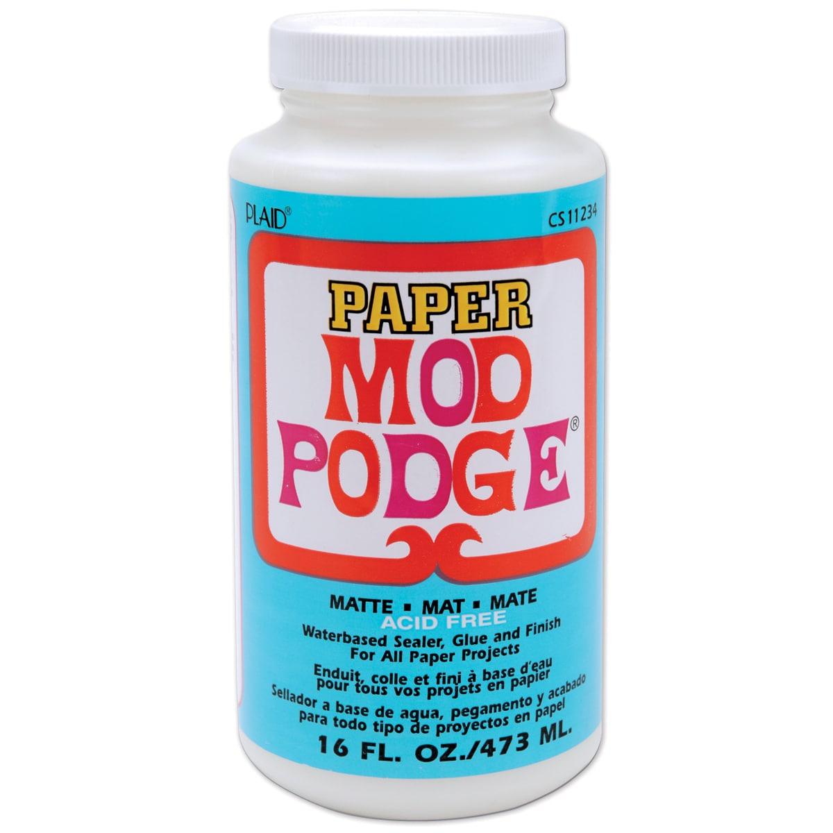 Plaid Mod Podge Paper Matte Finish (16oz), White