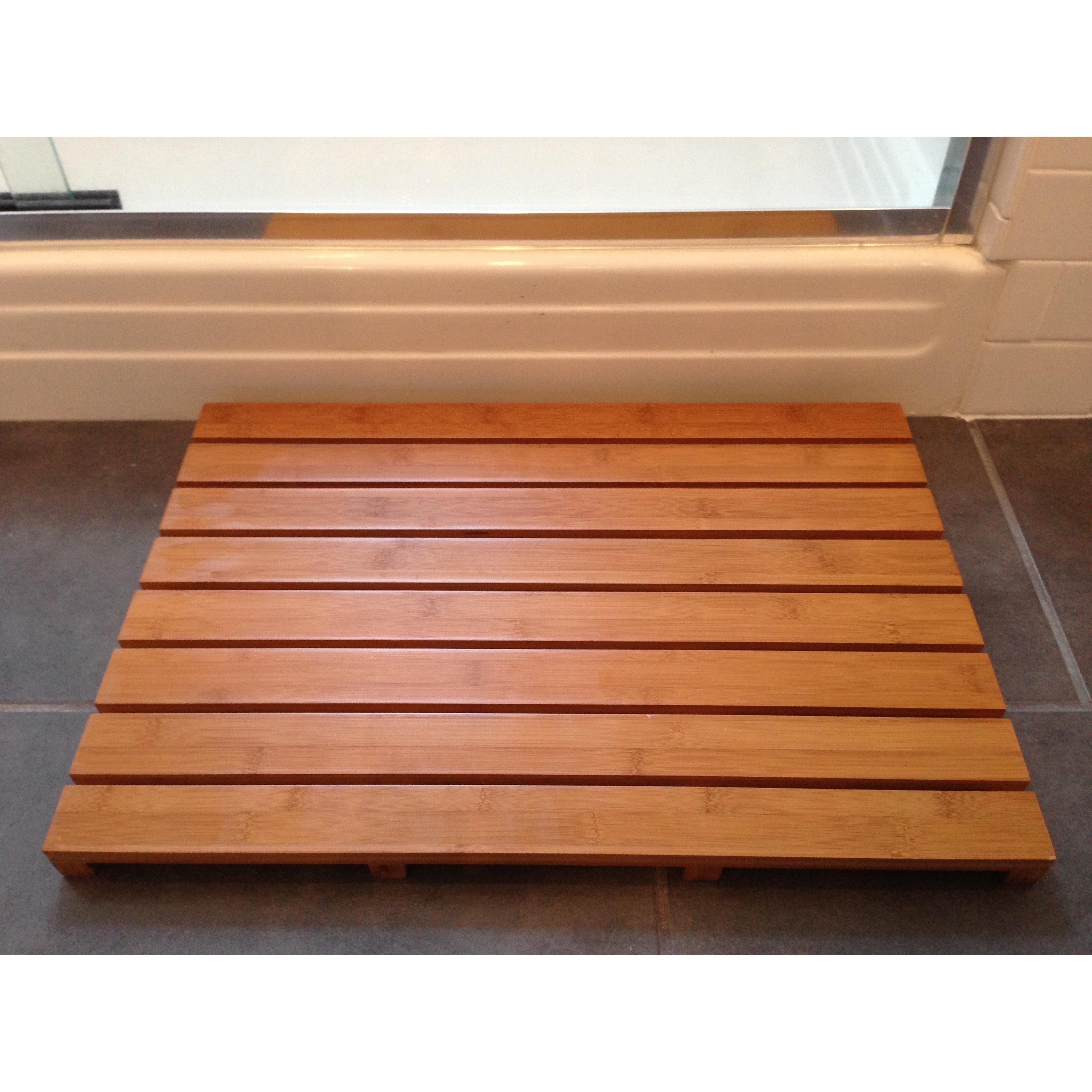 Jani Bamboo Bath and Sauna Mat (16x24), Tan (Wood, Solid ...
