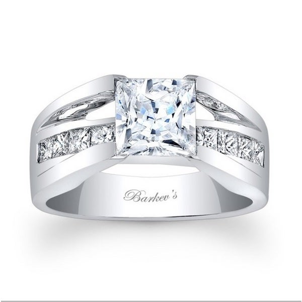 Barkev's Designer 14k White Gold 5/8ct TDW Diamond Engagement Ring