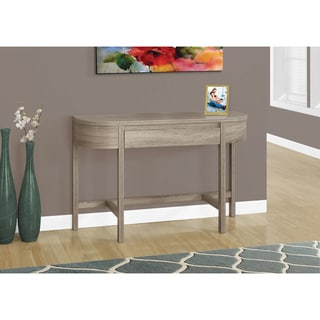 Dark Taupe Storage Drawer Accent Table