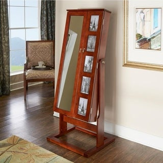 Powell Addison Cherry Photo Armoire