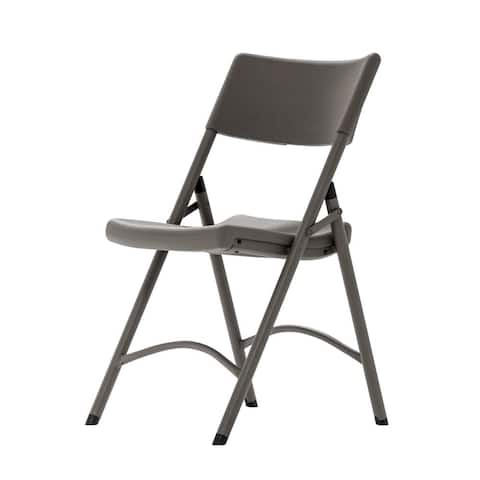 COSCO Commercial 4-pack Heavy Duty Blow Mold Brown Folding Chair