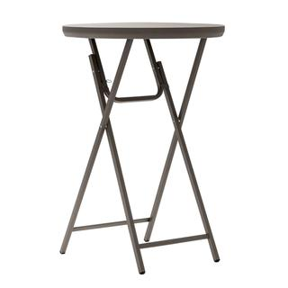 COSCO Commercial Cocktail Heavy Duty Blow Mold Folding Brown Table