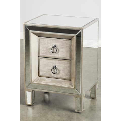 Statements By J Cassidy Nightstand w/ 2 Drawers, 26 Inch Tall