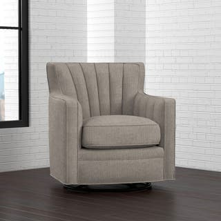 swivel chairs living room. Handy Living Zahara Dove Grey Linen Swivel Arm Chair Room Chairs For Less  Overstock com