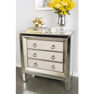 Hand Painted Mirrored Drawer Accent Chest 11968404