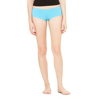 Women's Turquoise Cotton/Spandex Shortie Shorts