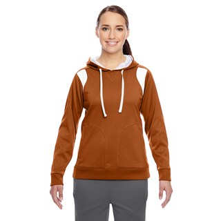 Elite Women's Burnt Orange/White Performance Hoodie