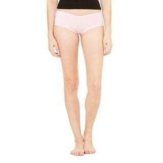 Cotton/Spandex Women's Pink Shortie Shorts