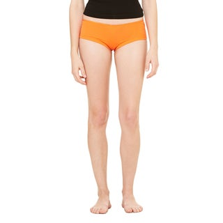 Cotton/Spandex Women's Orange Shortie Shorts
