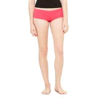 Cotton/Spandex Women's Fuchsia Shortie Shorts
