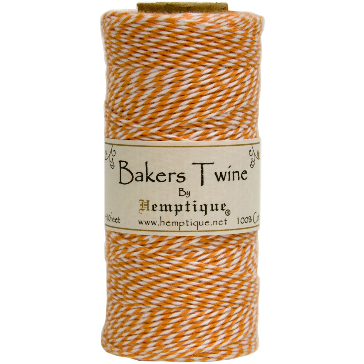 Cotton Baker's Twine Spool 2-Ply 410' (Orange)