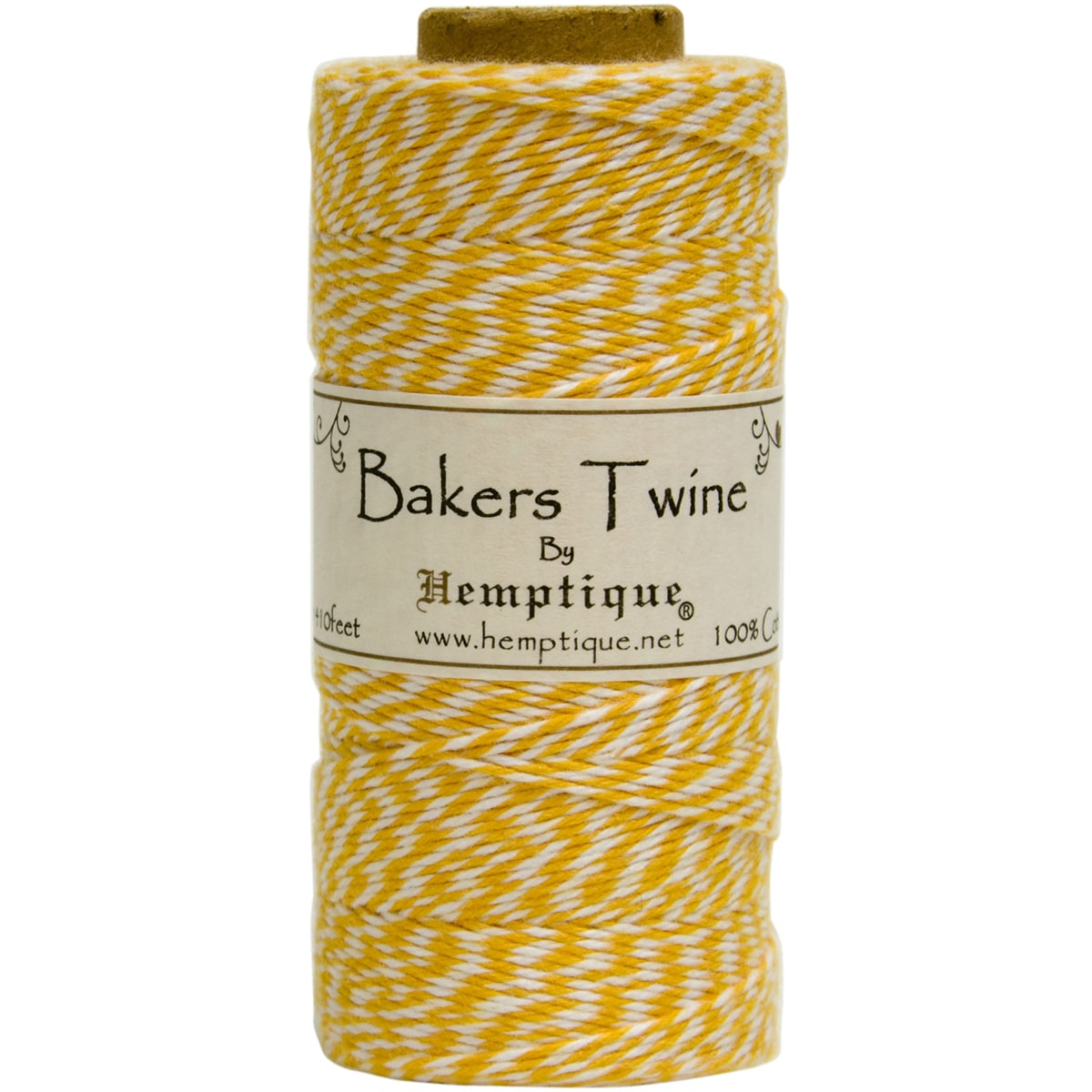 Cotton Baker's Twine Spool 2-Ply 410' (Yellow)