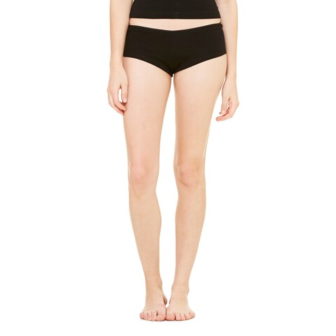 Cotton/Spandex Women's Black Shortie Shorts