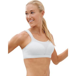 Spot Women's Comfort Full-Support White Sports Bra